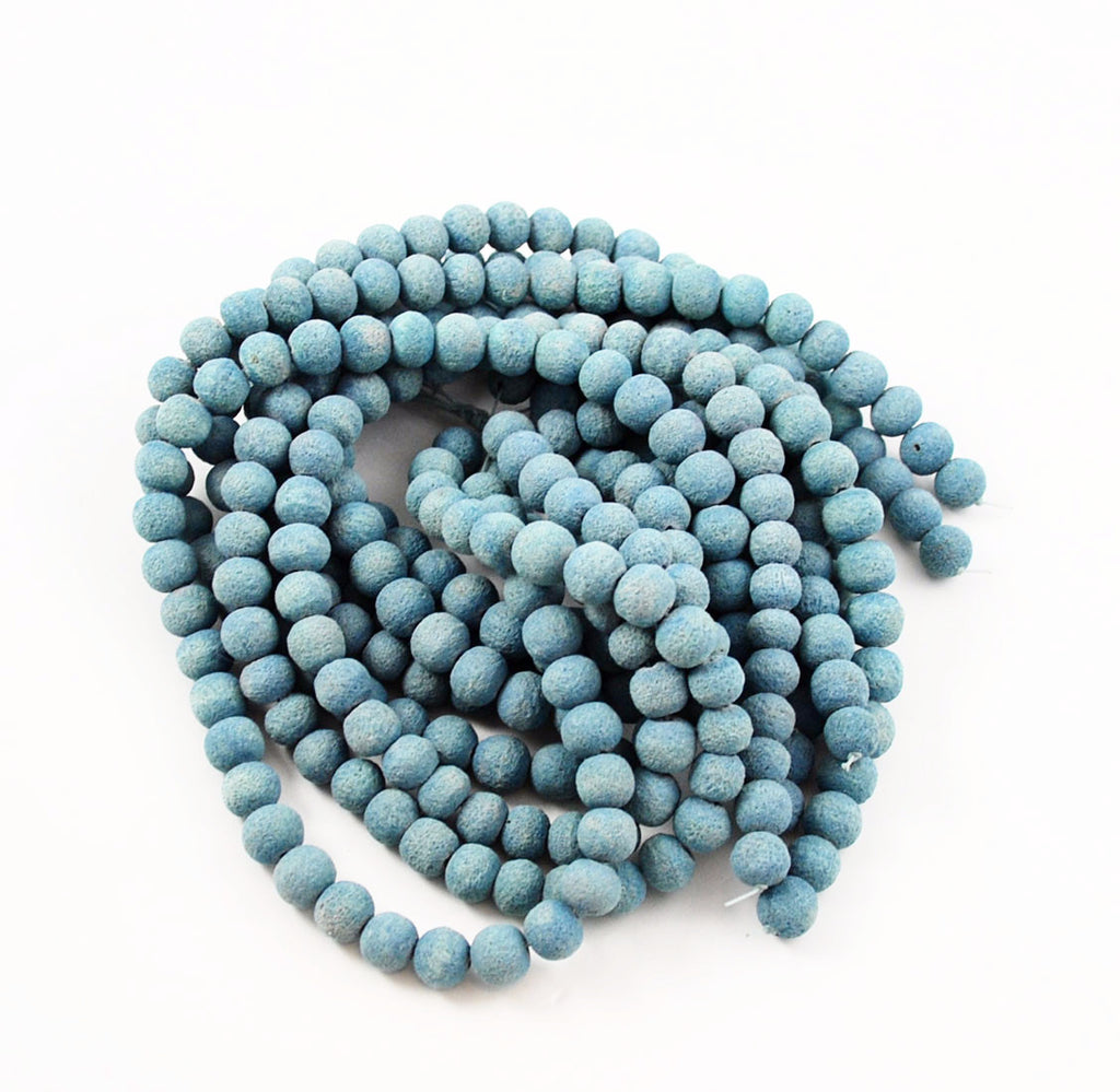 Light Blue Sponge Coral Strands 10-12mm