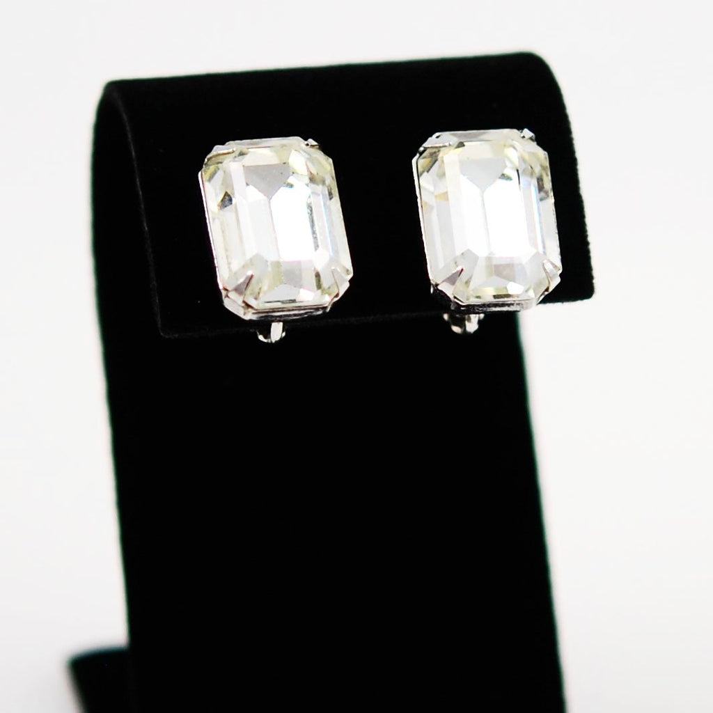 Coro Rhinestone Earrings Clip On
