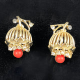 Vintage Coro Coral earrings