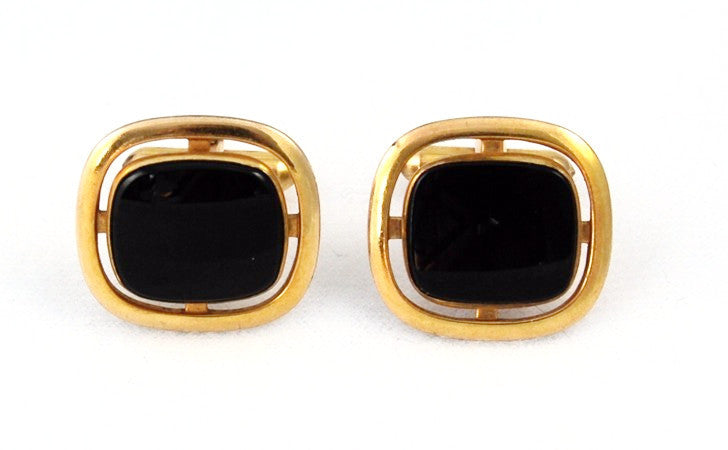 La Mode Black Onyx Cuff Links