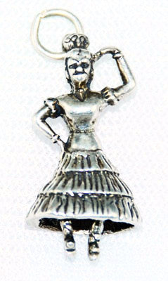 Sterling Silver Spanish Dancer Charm