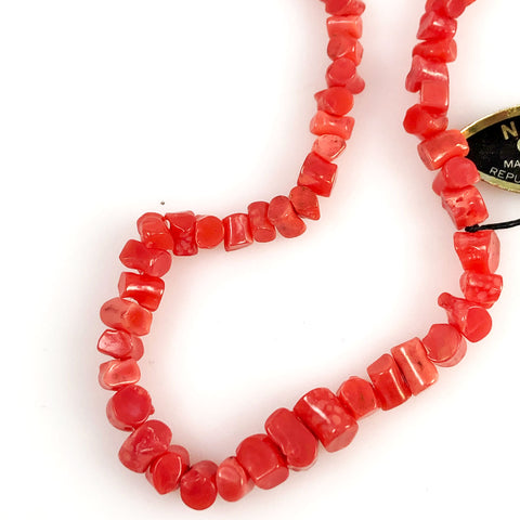 Dark Pink Coral Branch Beads Graduated Strand