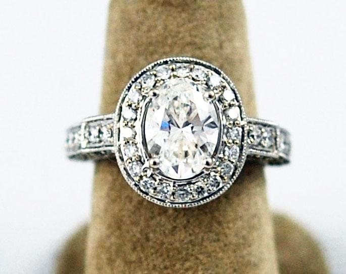 1.53ct Oval Brilliant Diamond Solitaire Engagement Ring