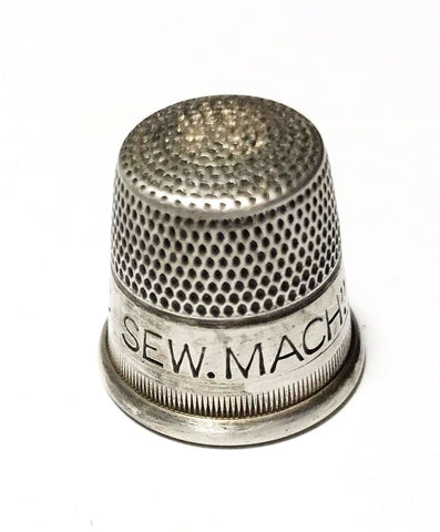 Antique Domestic Sewing Machine Sterling Thimble
