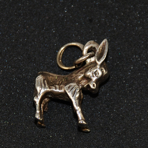 Sterling Silver Donkey Charm Vintage