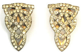 Art Deco Rhinestone Dress Clips