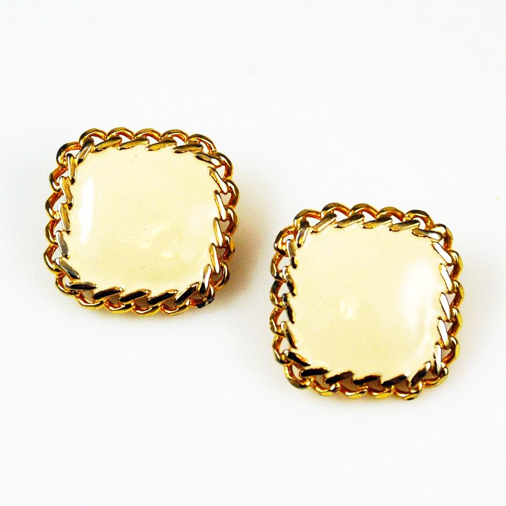 Ellen Designs Enamel Clip On Earrings