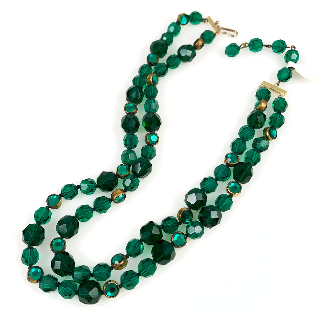 Emerald Green Swarovski Crystal Necklace