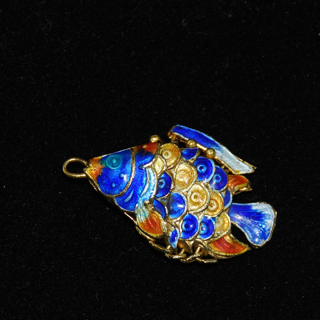 Enamel Articulated Fish Charm