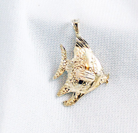 Sterling Silver Angel Fish Pendant