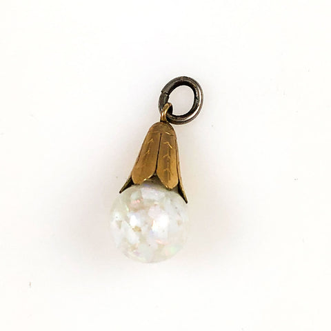 Gold Filled Floating Opal Charm