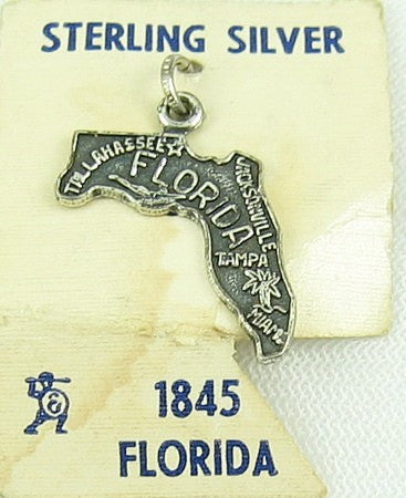 Florida State Sterling Silver Travel Charm