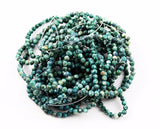 Teal Green Fossil Gemstone Bead Strands