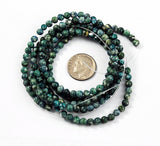 Teal Green Fossil Gemstone Bead Strands 4mm
