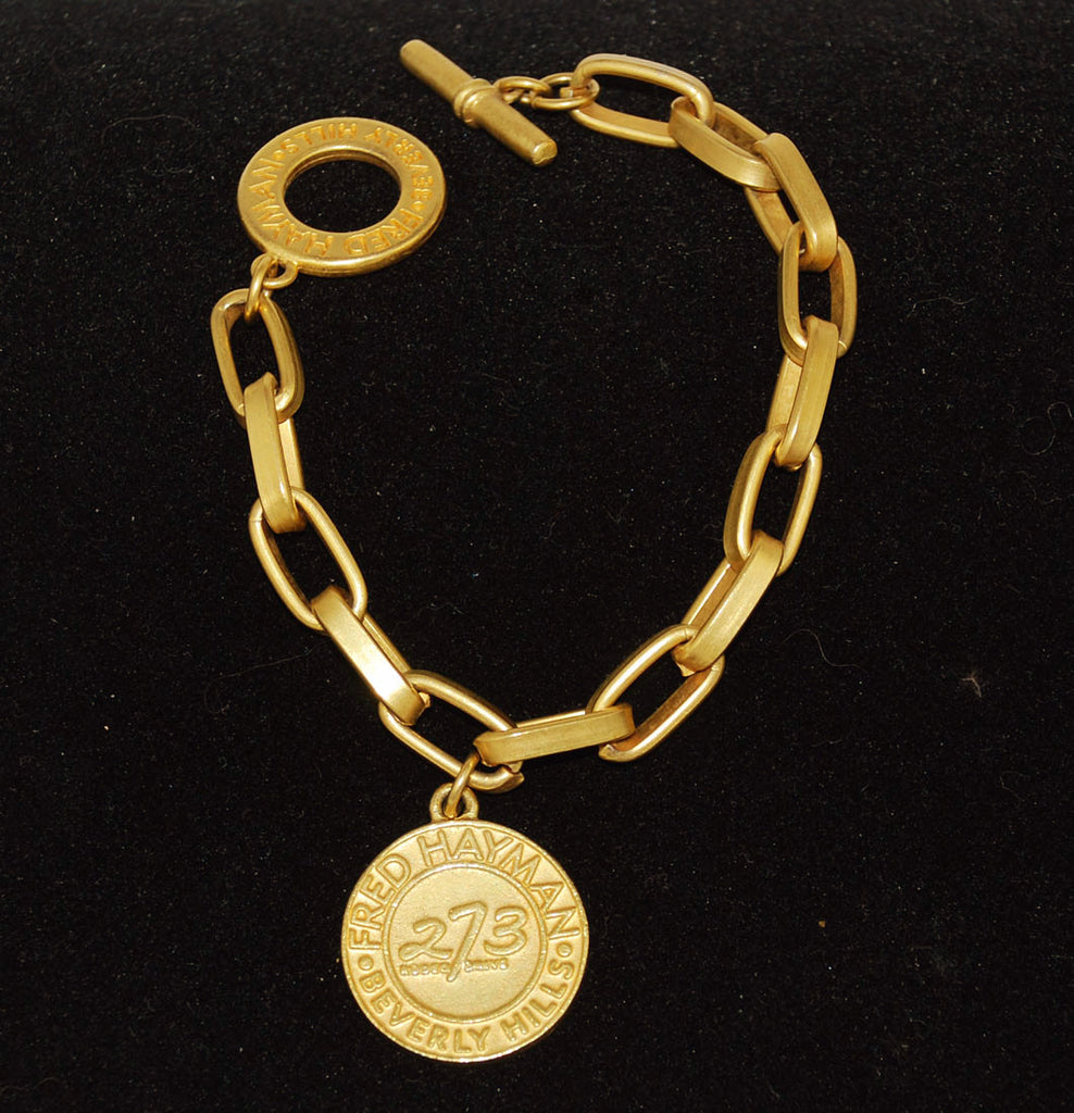 Fred Hayman 273 Gold Medallion Bracelet