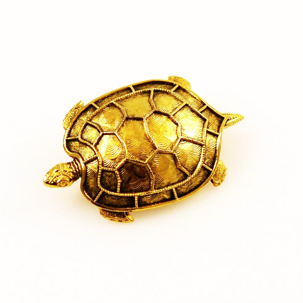 Freirich Gold Plated Turtle Brooch Vintage