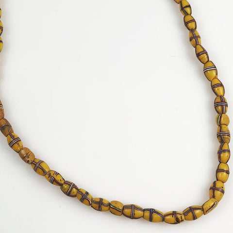 Yellow French Cross African Trade Beads