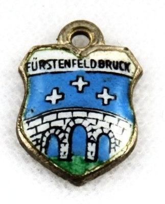 Fürstenfeldbruck, Germany Travel Shield Silver Charm