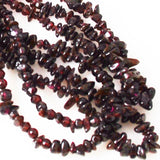 Garnet Chip Bead Necklace Vintage