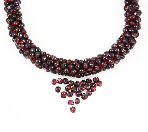 Garnet Gemstone Beads Off Round