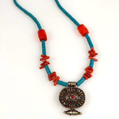Vintage Tibetan Gau Tribal Necklace