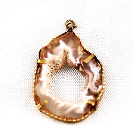Geode Gold Plated Pendant