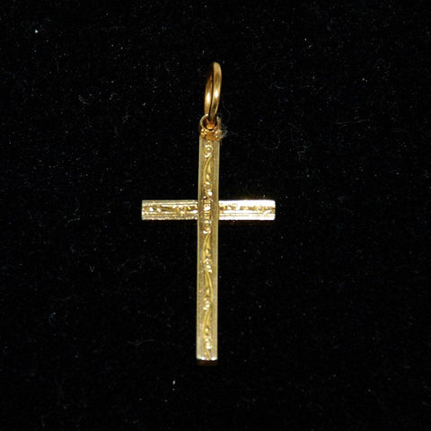 Gold Filled Cross Pendant Charm Vintage 1910's