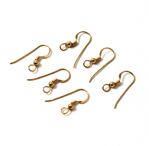 Gold Filled Shepherd Hook Earrings 3 pairs 14K GF