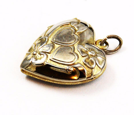 LaMode Gold Filled Double Heart Locket