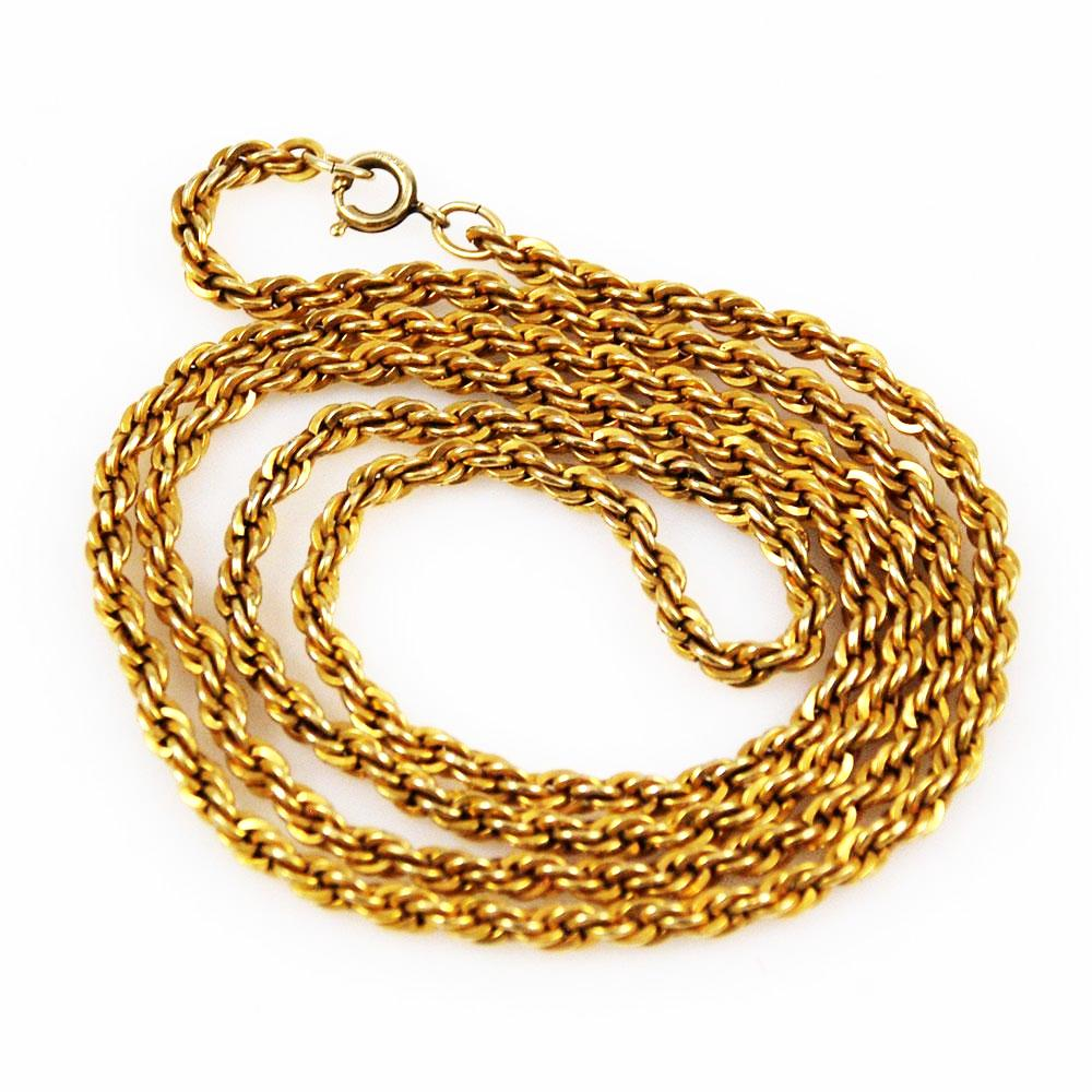 Gold Filled Rope Chain Necklace