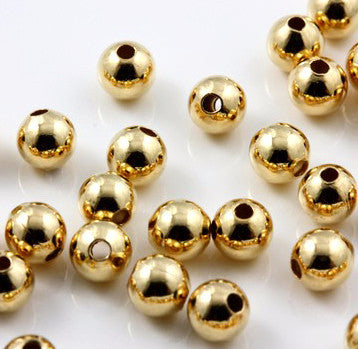 Gold Filled Round Beads 3mm, 4mm, 5mm, 6mm, 8mm