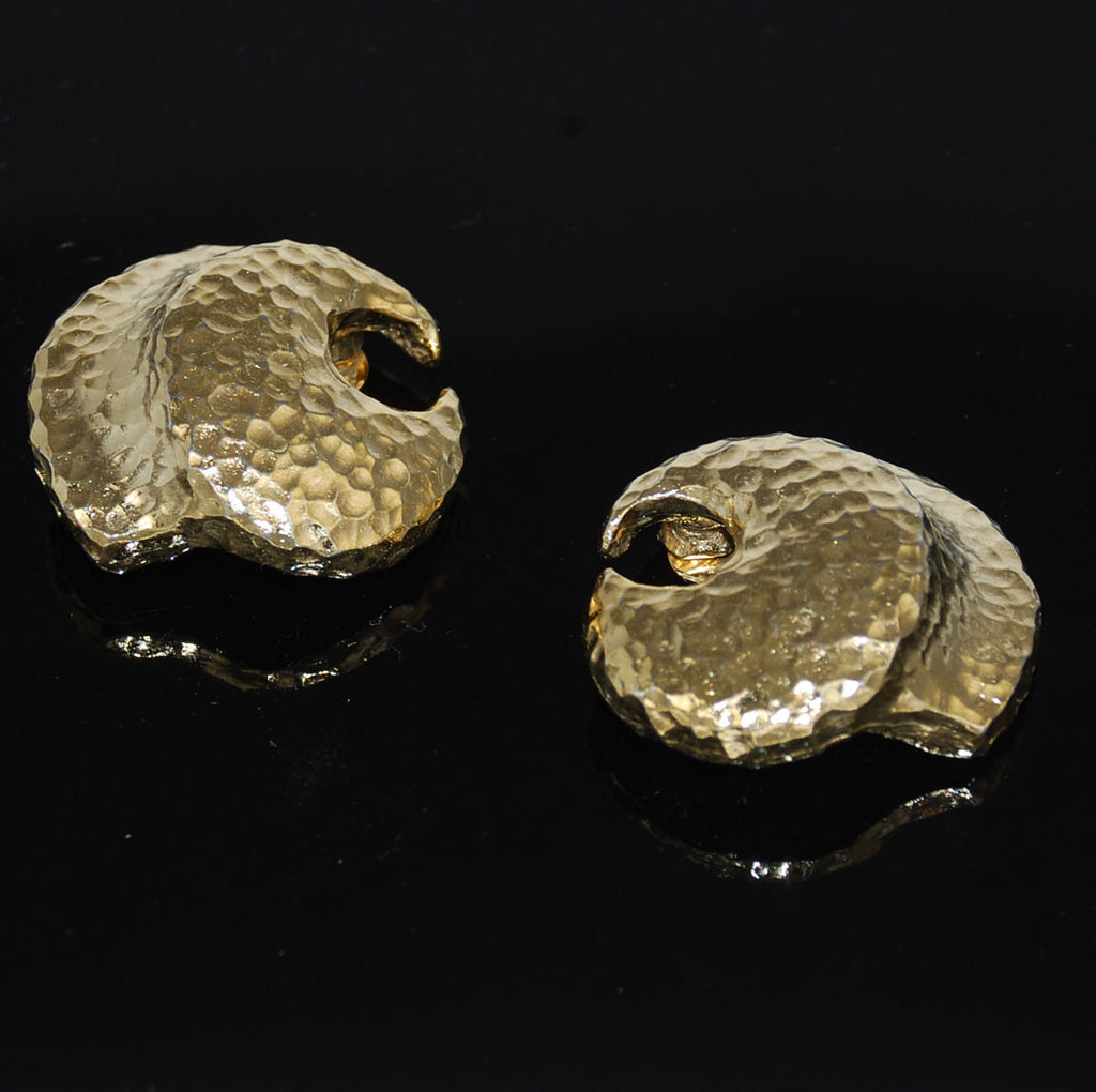 Givenchy Gold Tone Clip On Earrings Signed