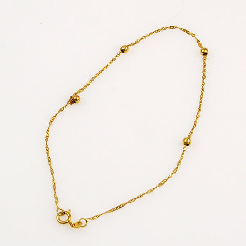 14K Gold Singapore Chain Bracelet/Anklet