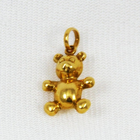 18K Gold Teddy Bear Charm