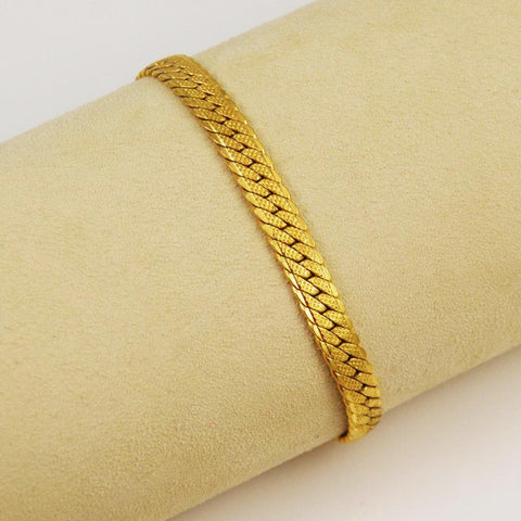 Monet Gold Herringbone Bracelet
