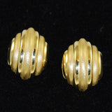 14K Gold Clip On Earrings Vintage