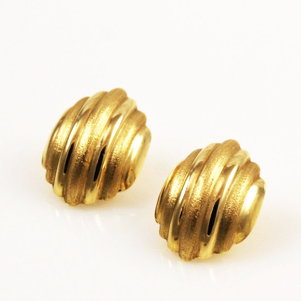 14K Gold Clip On Earrings