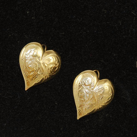 14Kt Gold Heart Earrings