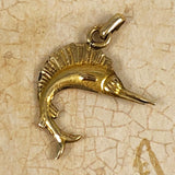 Gold Marlin Swordfish Pendant