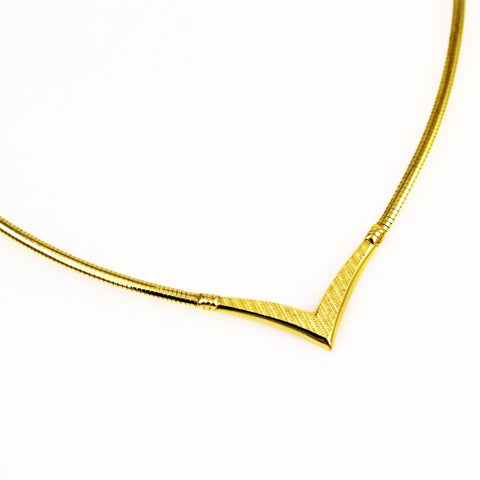 14K Gold Omega Chain Necklace Italian