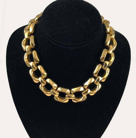 Chunky Vintage Gold Choker Necklace