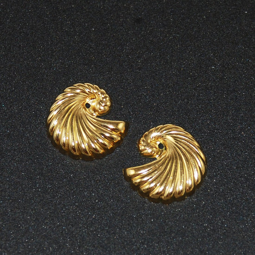 Gold Shell Earring Jackets 14K Gold Filled