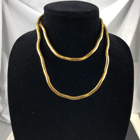 vintage gold snake necklace