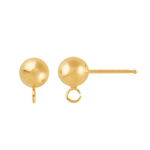 Gold Filled Ball on Post Earrings 2 pairs