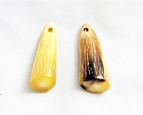 Golden Horn Tip Pendants - Lucky Amulets