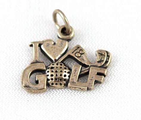 Sterling Silver Golf Lover's Charm Vintage
