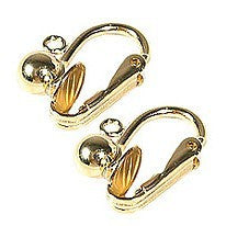 Gold Plated Clip On Earrings Finding with Loops