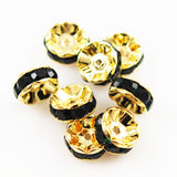 Large Gold Plated Emerald Green Rondelles 16mm
