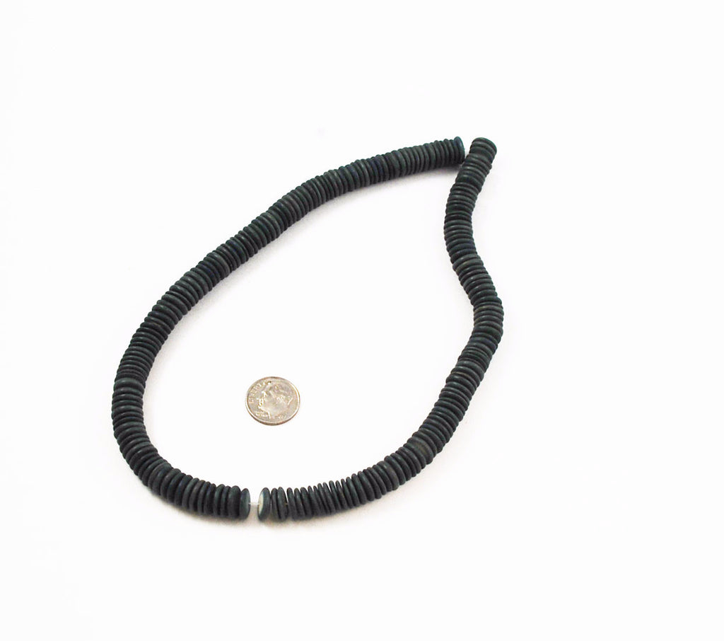 Gray Coco Disk Bead Strands 10mm