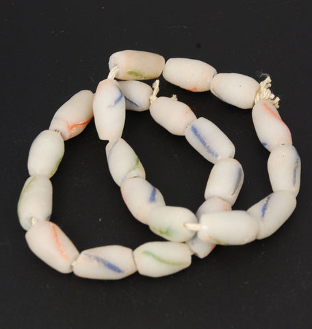 African Gray Sandcast Tube Beads